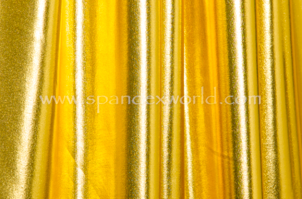 2 Way Metallic Spandex (Gold)