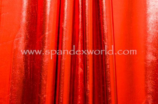 4 Way Metallic Spandex-shiny (Red)