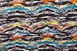 Stretch Printed Lace (Black/Orange/Yellow/Multi)