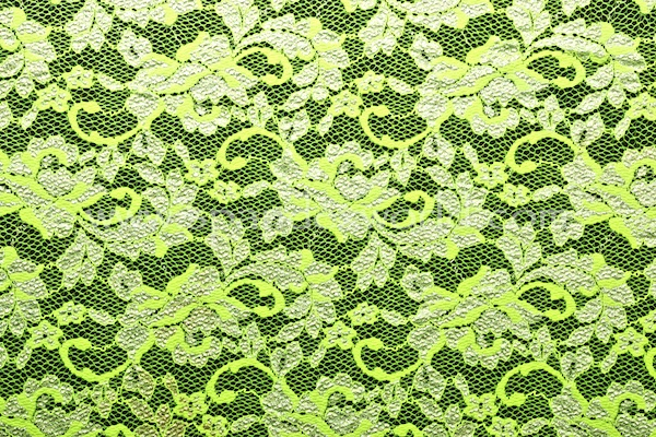 Stretch Lace (Lime/Silver)