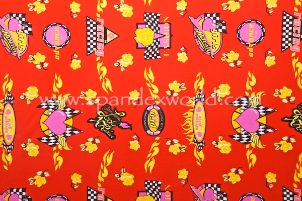 Printed Spandex (Red/Yellow/Multi)