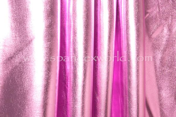 4 Way Metallic Spandex-shiny (Black/candy pink)