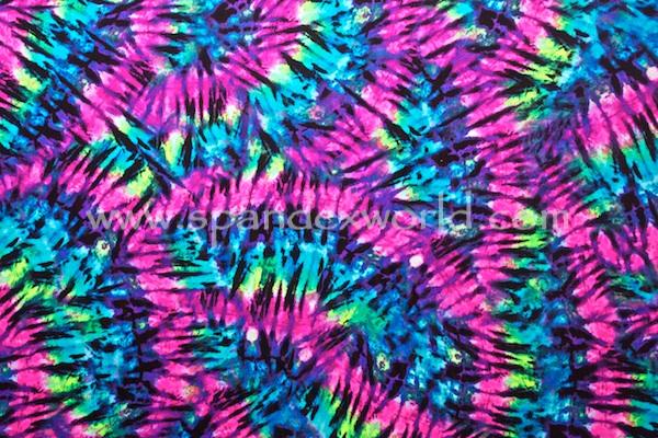 Printed Tie Dye (Neon Pink/Lime/Multi)