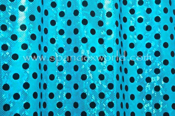 Polka Dots Holograms (Turquoise/Turquoise/Black)