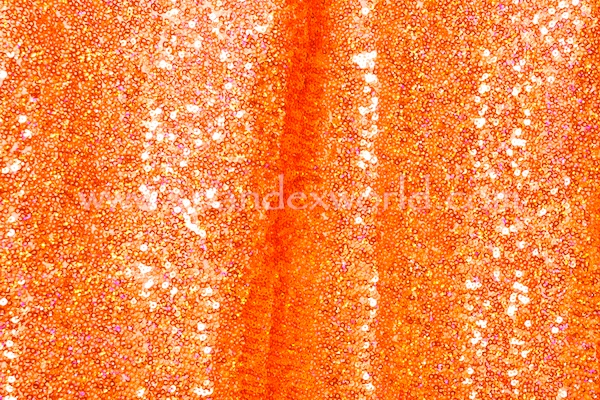 Stretch Sequins (Neon Orange/Neon Orange Holo)
