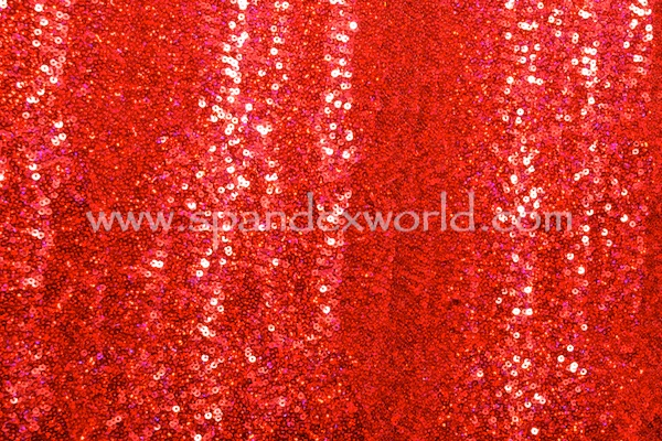 Stretch Sequins (Red/Red Holo)