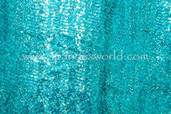 Stretch Sequins (Turquoise/Turquoise Holo)