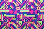 Aztec Print Spandex (Neon Lime/Purple/Multi)