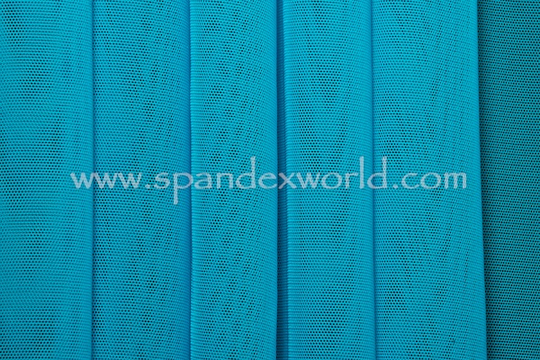 Stretch Solid Mesh (Turquoise)