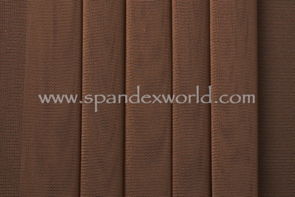 Stretch Solid Mesh (Brown)