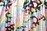 Tie Dye Metallic Spandex (Black/Pink/Blue)