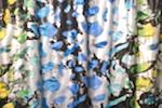 Tie Dye Metallic Spandex (Black/Silver/Blue/Green)