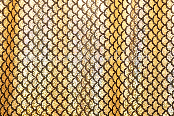 Fish scale Hologram (Black/Gold)