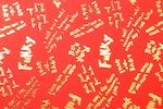 Pattern/Abstract Hologram (Bright Red/Gold)