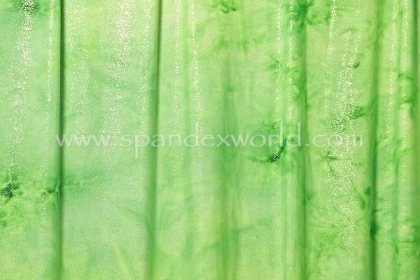 Tie dye foil dot (lime/silver)