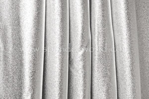 Metallic Denim (White/Silver)