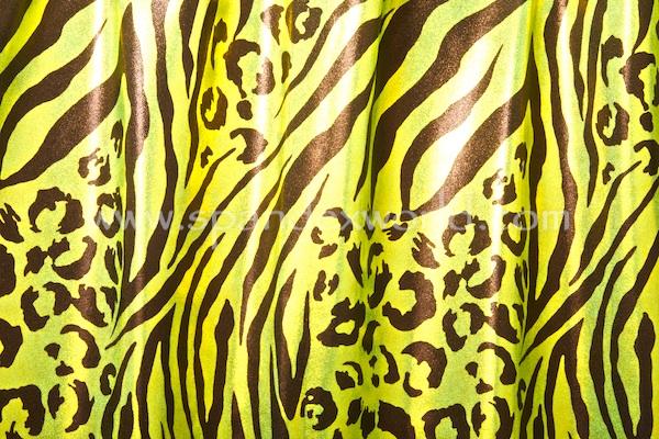 Animal Print Hologram (Lime/Chartreuse/Black)