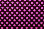 Printed Polka Dots (Black/Hot Pink)