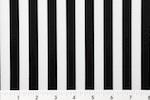 Printed Stripes 1/2'' (Black/White)