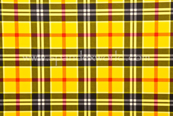 Printed Spandex (Yellow/Black/Multi)