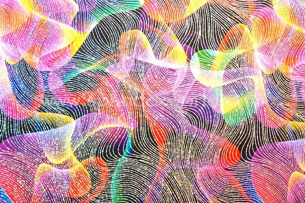 Pattern/Abstract Hologram (Black/Orange/Multi/Silver Holo)