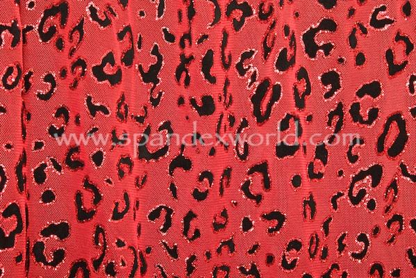 Glitter/Pattern Mesh (Red/Black)