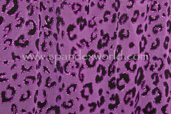 Glitter/Pattern Mesh (Purple/Black)