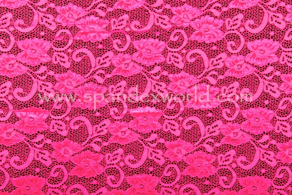 Stretch Lace (Hot Pink)