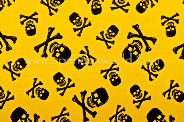 Printed Spandex (Yellow/Black)