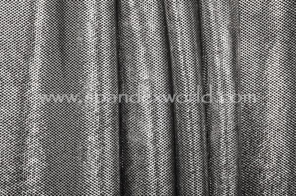 Metallic Fishnet (Black/Silver)