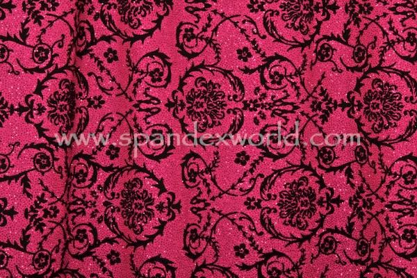 Glitter/Pattern Mesh (Magenta/Hot Pink/Black)