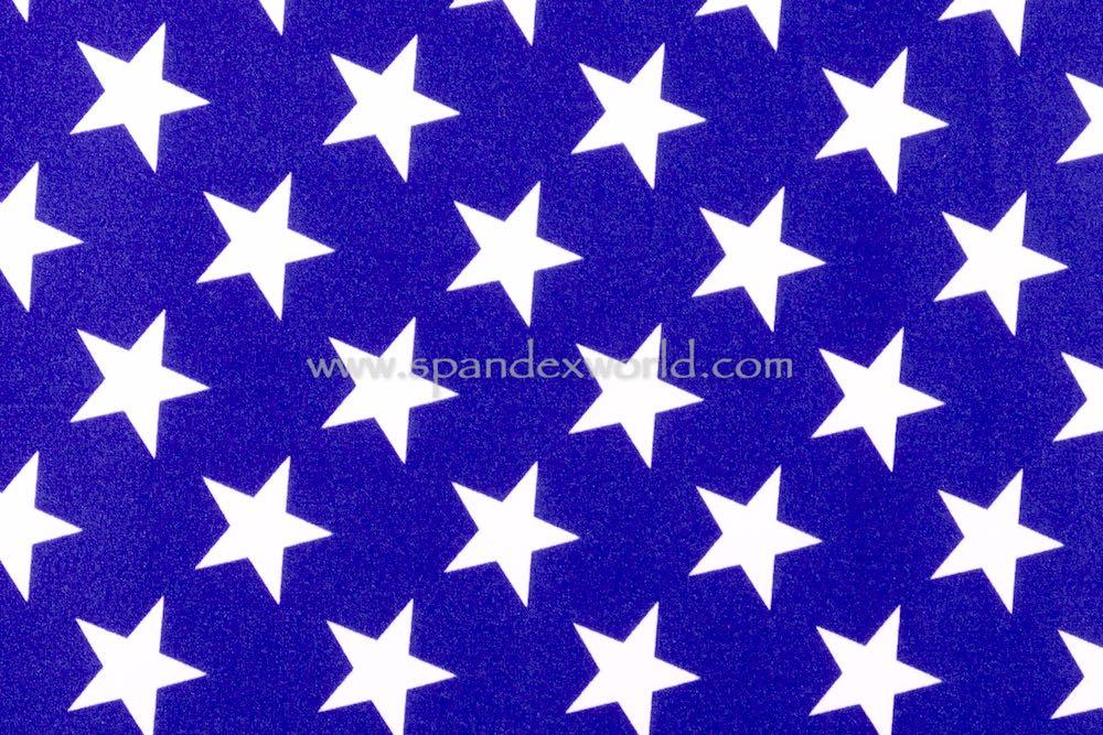 Printed Stars (Royal/White)