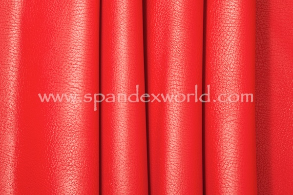 Faux Leather - 4 Way (Red/Red)
