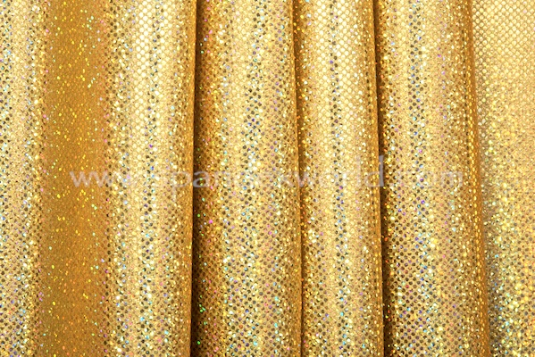 Holographic Dots (Gold/Gold)