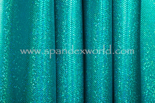 Holographic Dots (Teal/Teal)