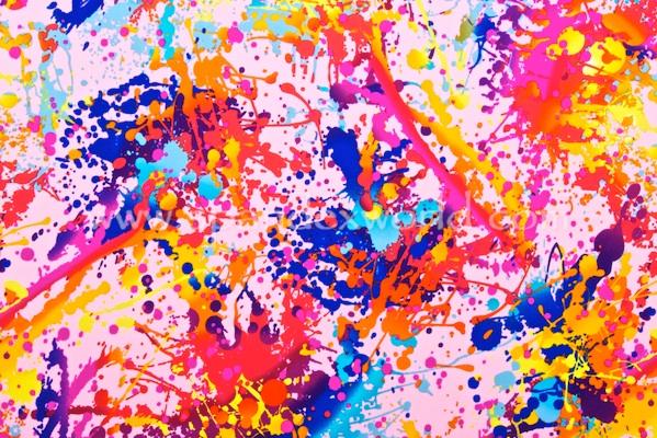 Printed Spandex (Lt. Pink/Orange/Blue/Multi)