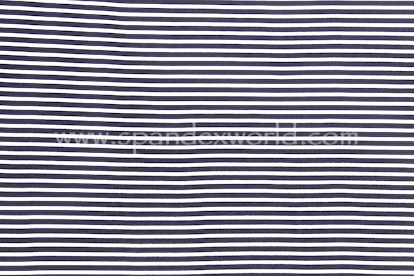 Printed Stripes (Navy/White)
