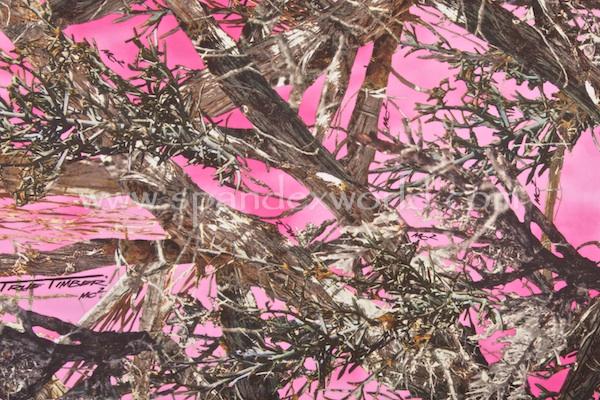 Tree Print Spandex (Pink/Brown/Multi)