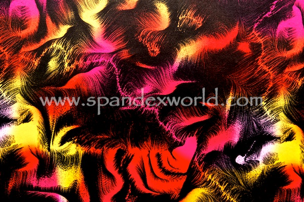 Printed Spandex (Black/Red/Pink/Yellow)