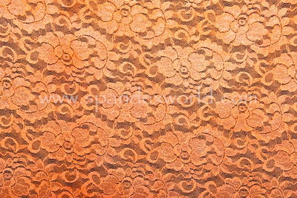 Stretch Glitter Lace (Neon Orange/Copper)