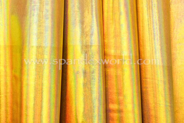 2 Way Reflective Metallic Spandex (Gold/Gold)