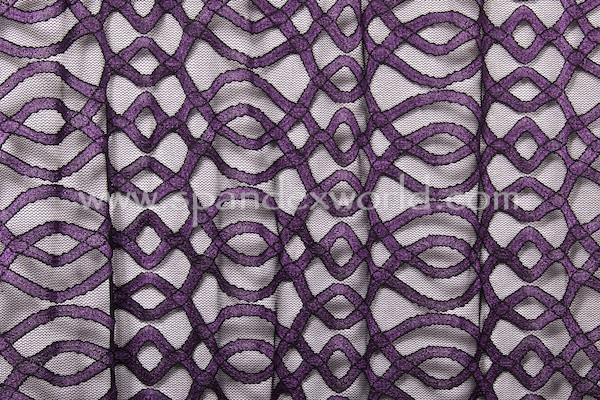 Stretch Lace (Black/Purple)