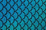 Fish scale Hologram (Black/Turquoise)
