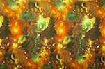 Printed Spandex (Green/Brown Galaxy Combo)