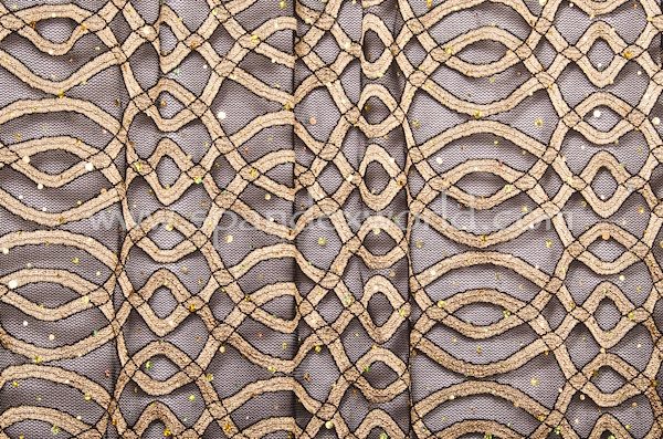 Stretch Sequins Lace (Black/Gold/Gold Holo)