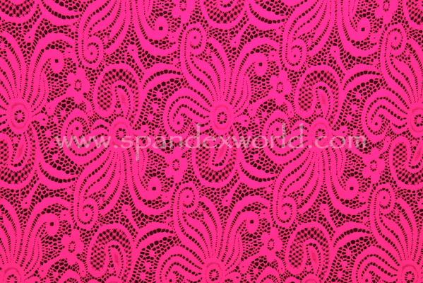 Stretch Lace (Neon Pink)