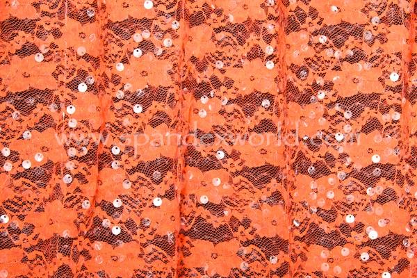 Stretch Sequins (Bright Orange/Clear)