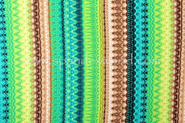 Printed Cotton Lycra® (Lime/Brown/Multi)