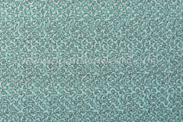 Stretch Sequins (Green/Silver)