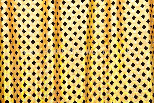 Metallic Pattern Spandex (Gold/Gold Holo)